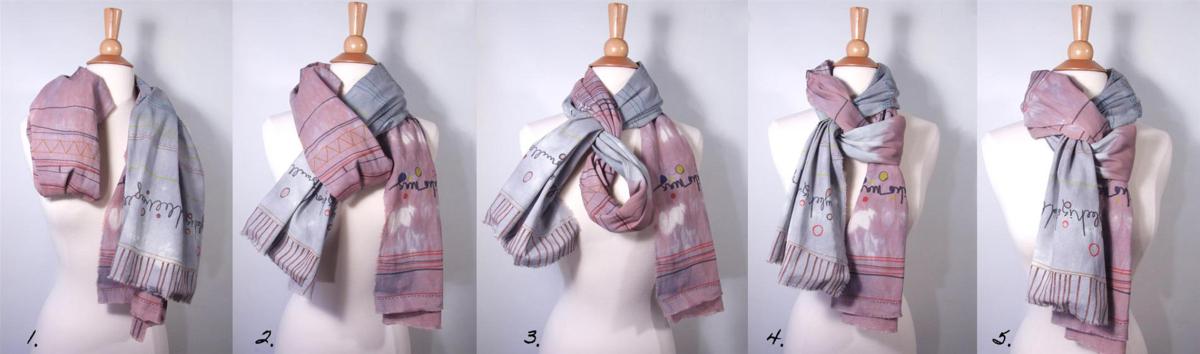 как красиво завязать шарф на пальто фото считаю